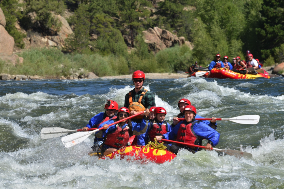 Michael Tauvinkl went white water rafting in the Arkansas River in Buena Vista, Colorado.