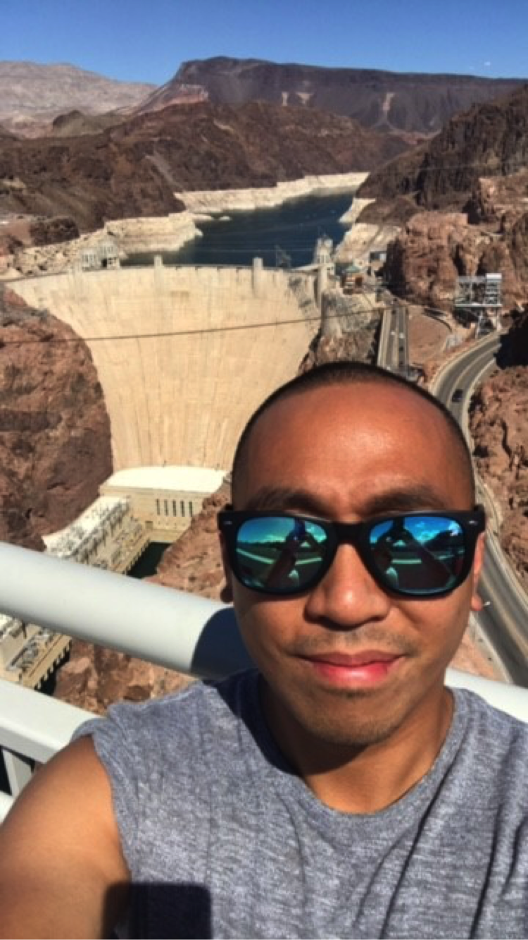 John Ylagan took a selfie at the Hoover Dam.