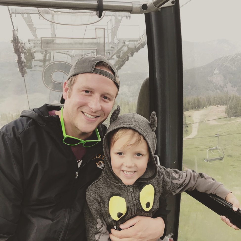 Adam Brown and his son took a trip up the mountains in Colorado.