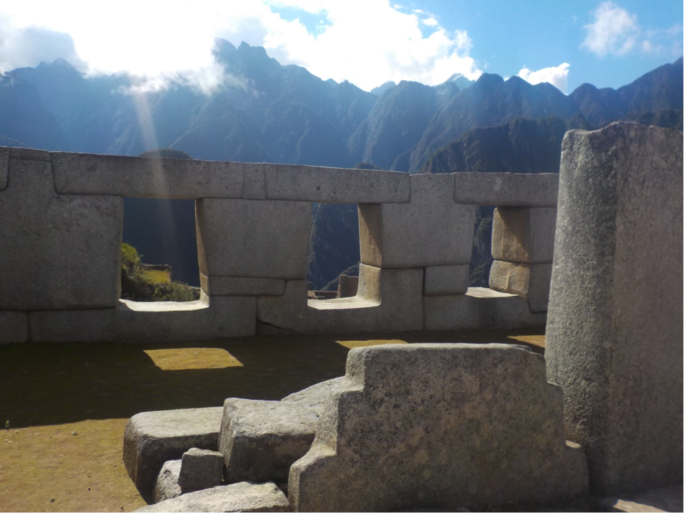 Jennifer photographed a great example of Incan architecture and engineering with these three windows found in the main square at Machu Picchu site.