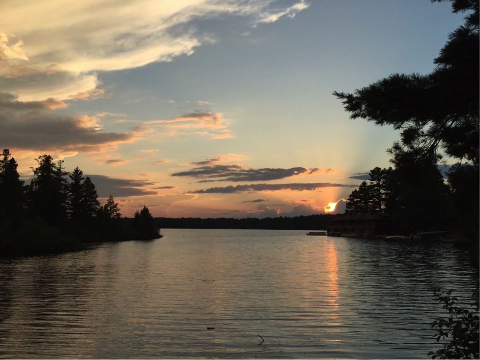 "Mike Elliott caught this beautiful sunset ""Up North"" to Minocqua, Wisconsin."