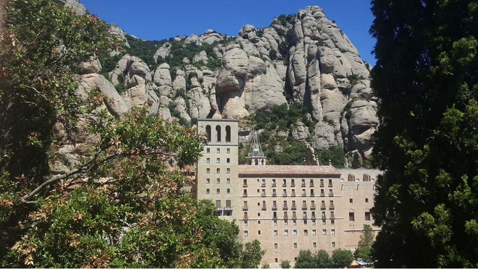 Rusty and her husband took a short hike up Montserrat in Catalonia, Spain.