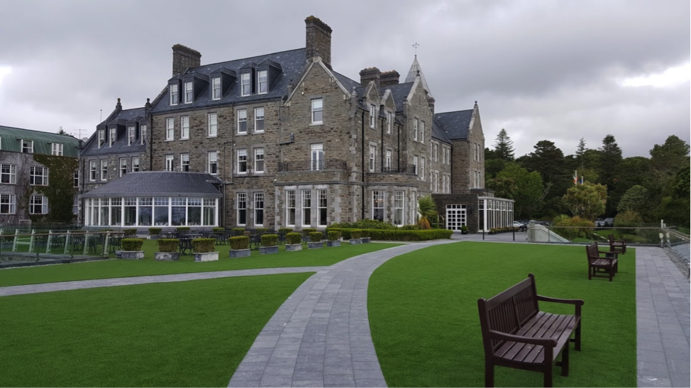 The Zimmermann's spent part of their stay at the Parknasilla in County Kerry. Princess Grace Kelly stayed in the hotel during her visit in the summer of 1961.