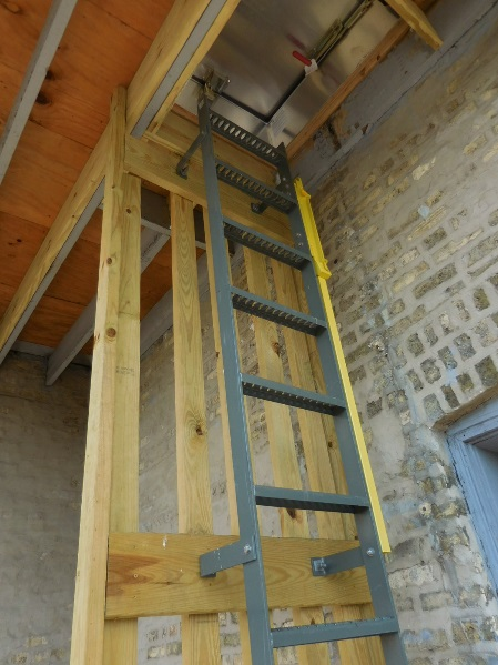 Ladder with telescope rail