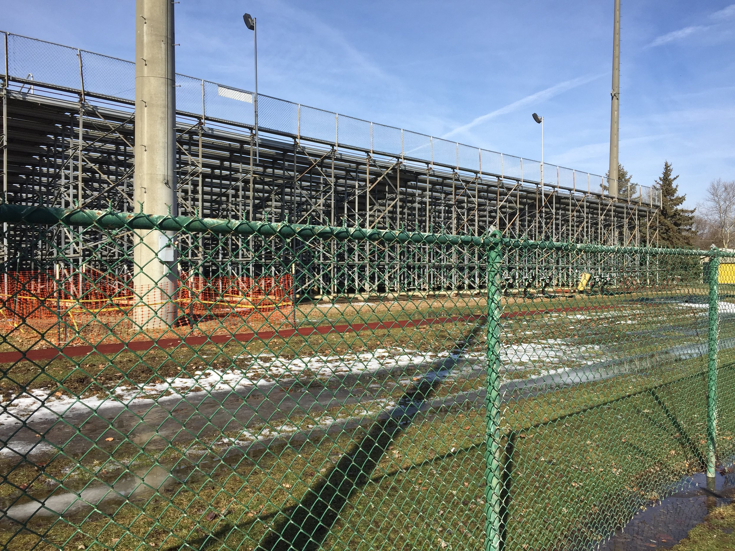 New tower site near the visitor bleachers.