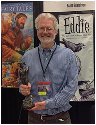 Scott and the Grand Master award from Spectrum Fantastic Art Live, 2015.       Photo credit: Tara Larsen Chang.