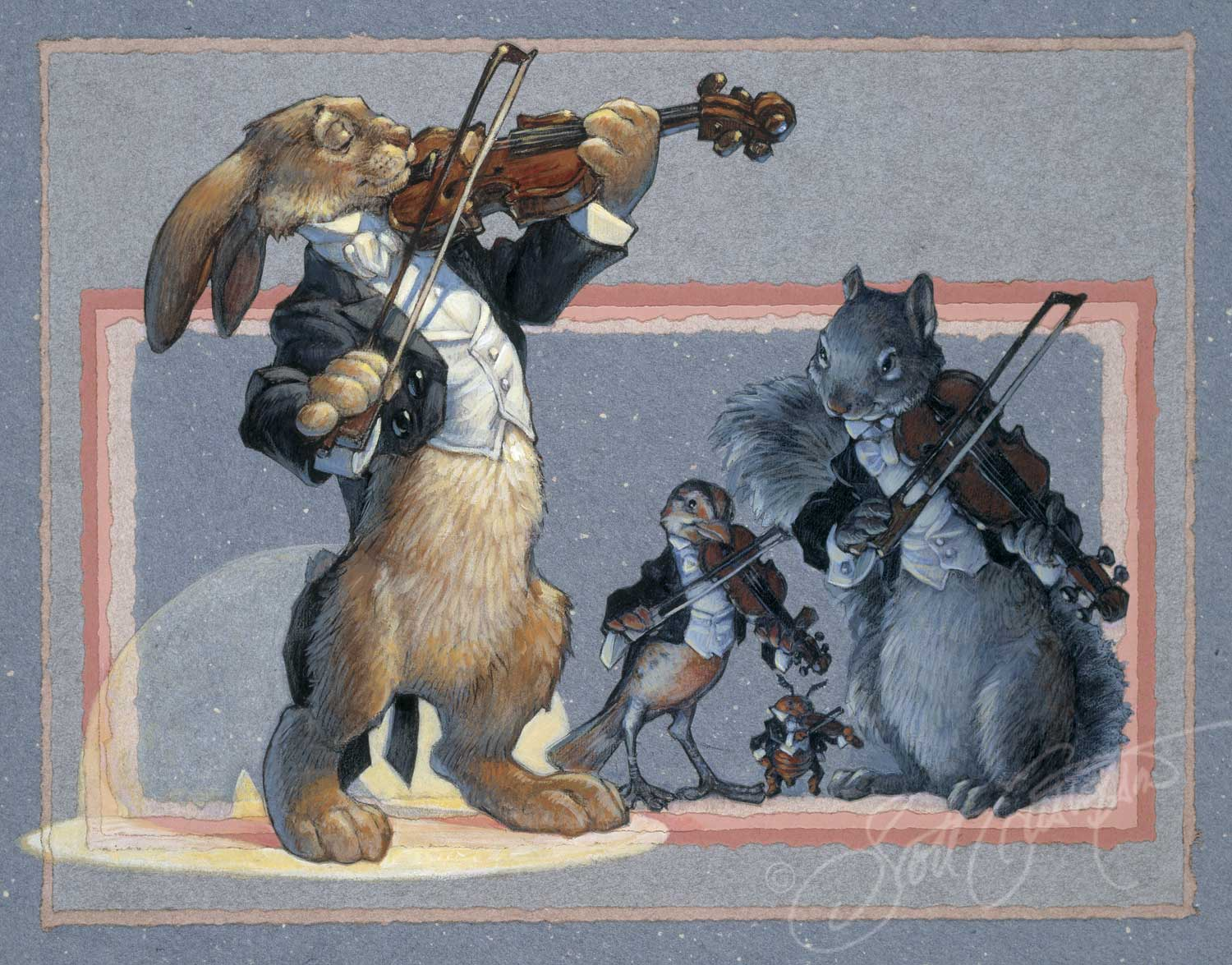 Violins: Mr. Rabbit, Mr. Beetle, Ms. Meadowlark and Mr. Squirrel