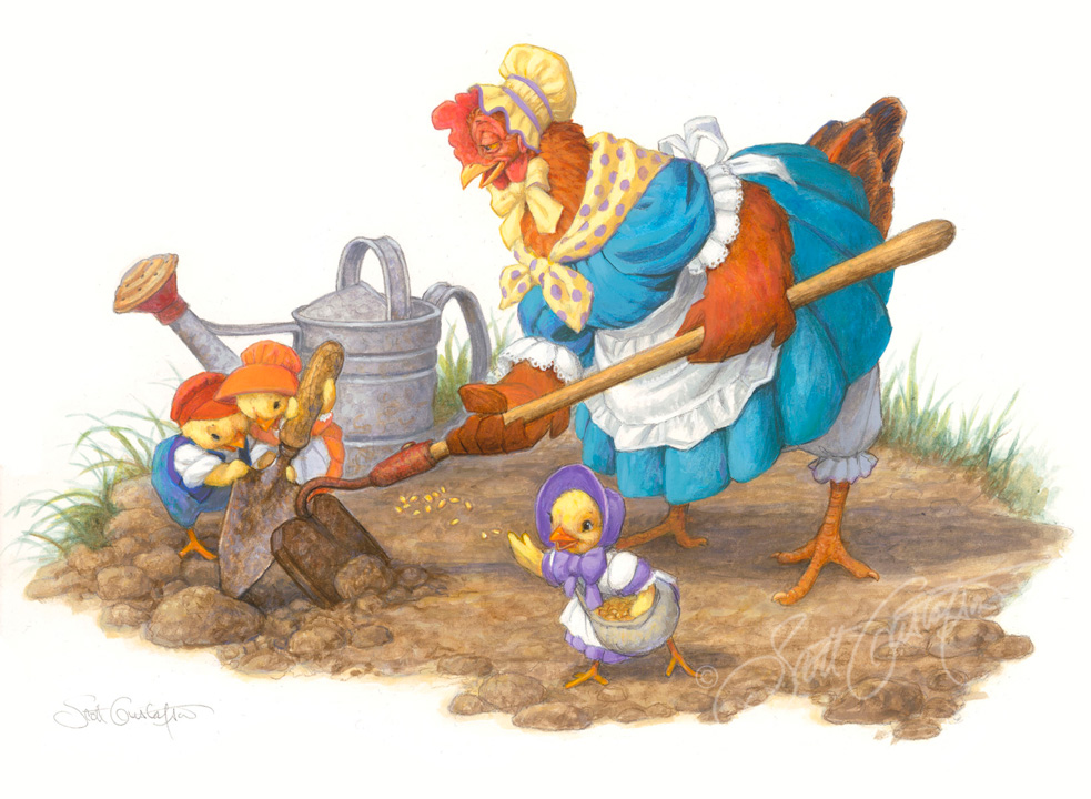 The Little Red Hen - Planting
