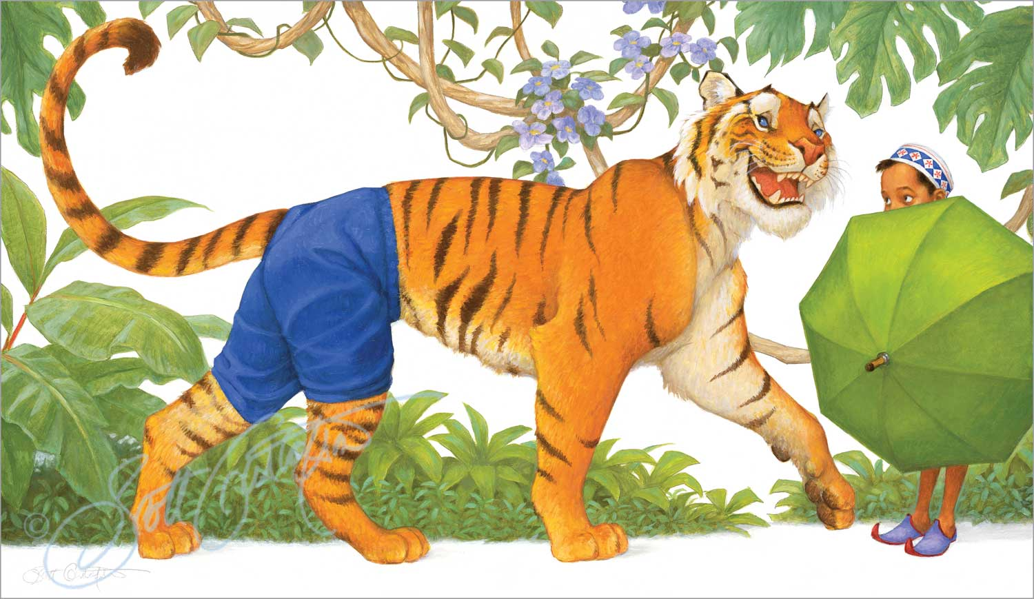 Sambha and the Tiger with Blue Trousers