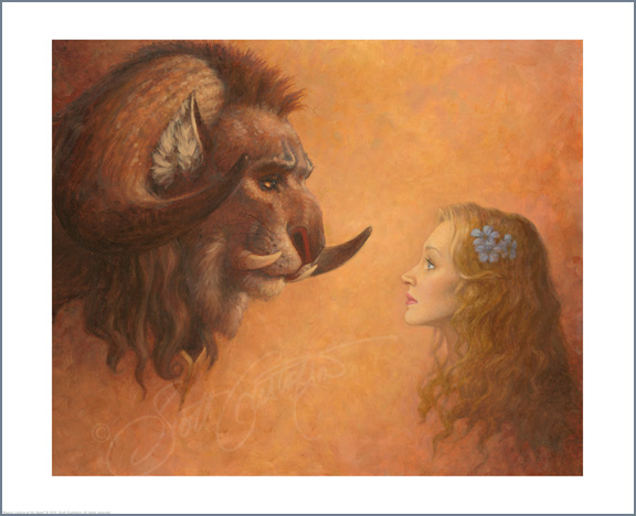 Beauty Looking at the Beast Studio print -      ON SALE! Click HERE for details!