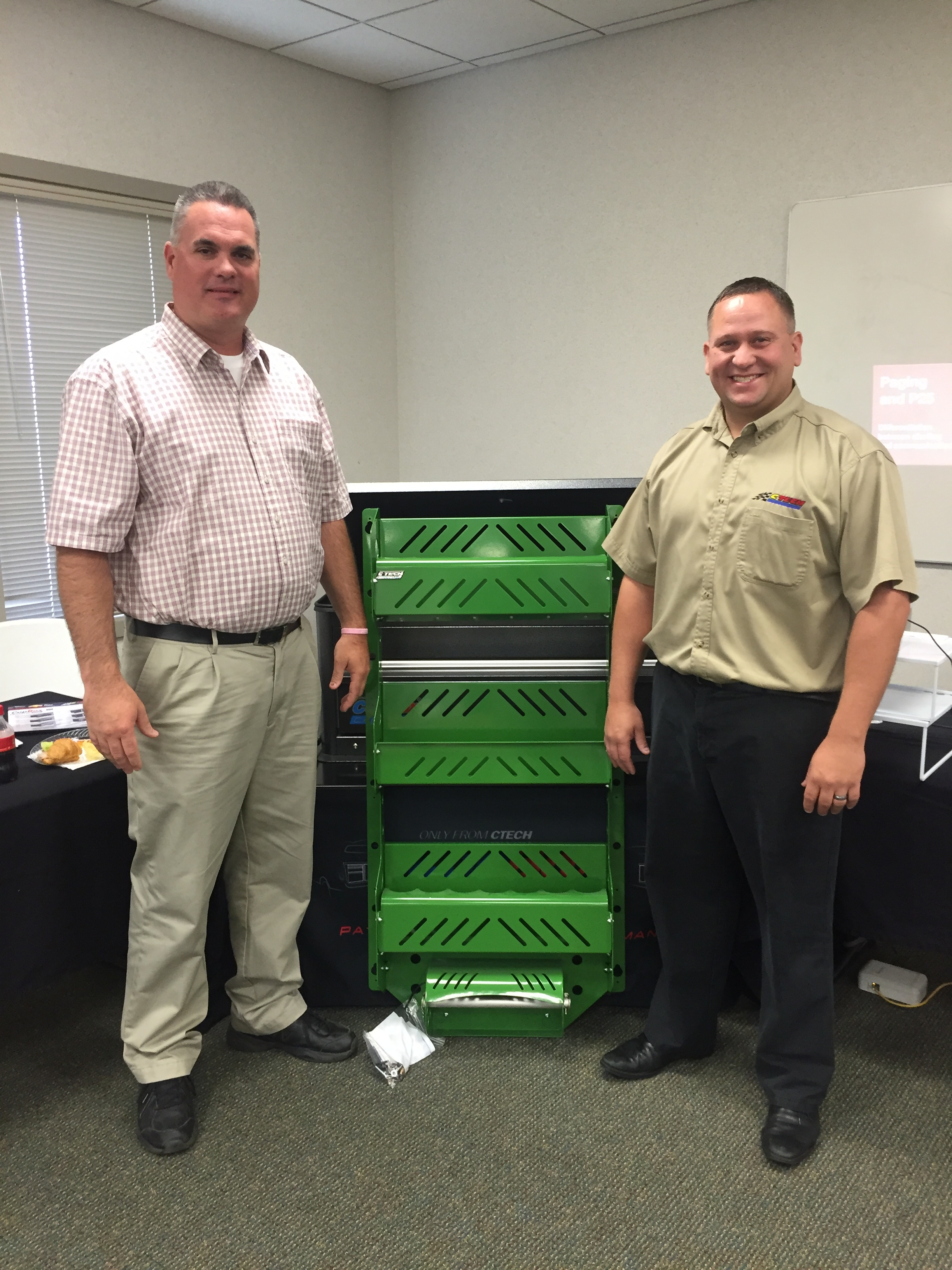 LT Logan Wernet picture with CTECH Manufacturing Sales Rep Daren Cowan