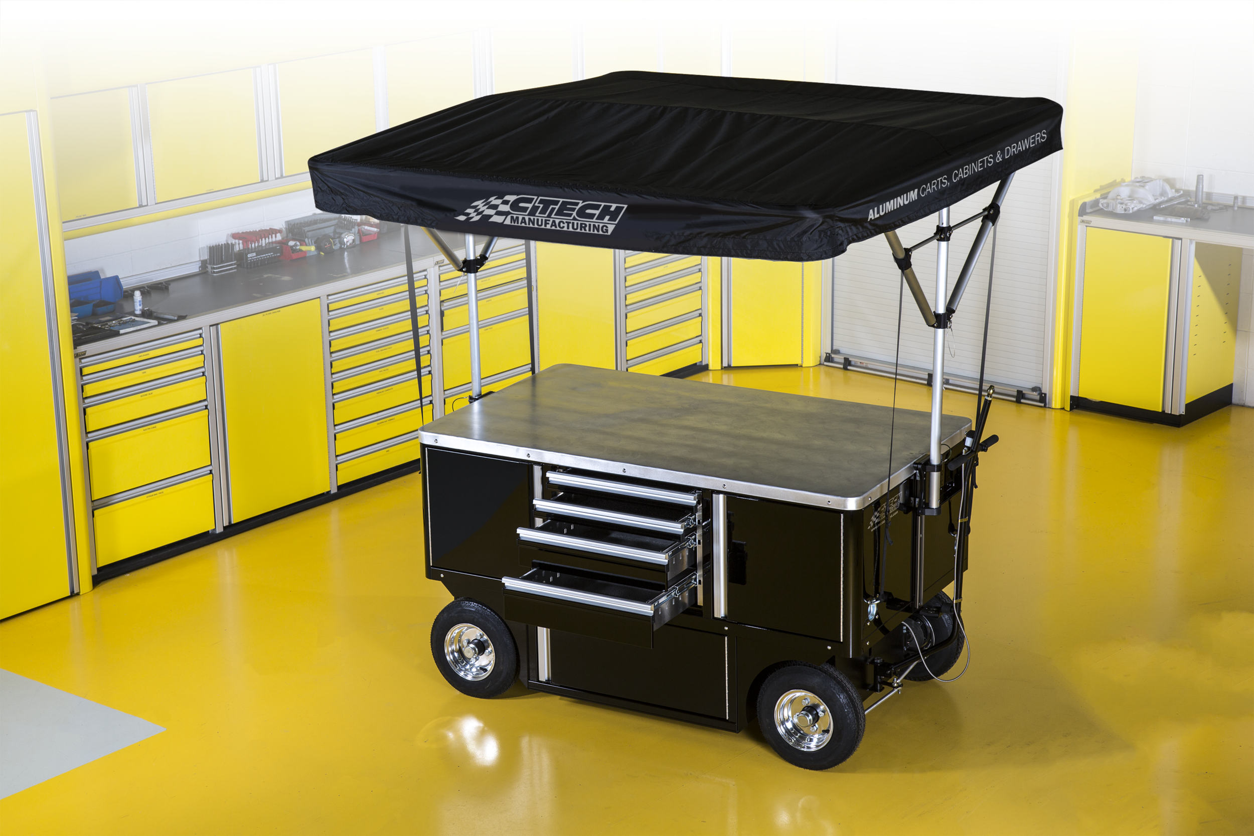 Standard Chassis - Work Top Cart with Canopy option - perfect configuration for Road Race applications