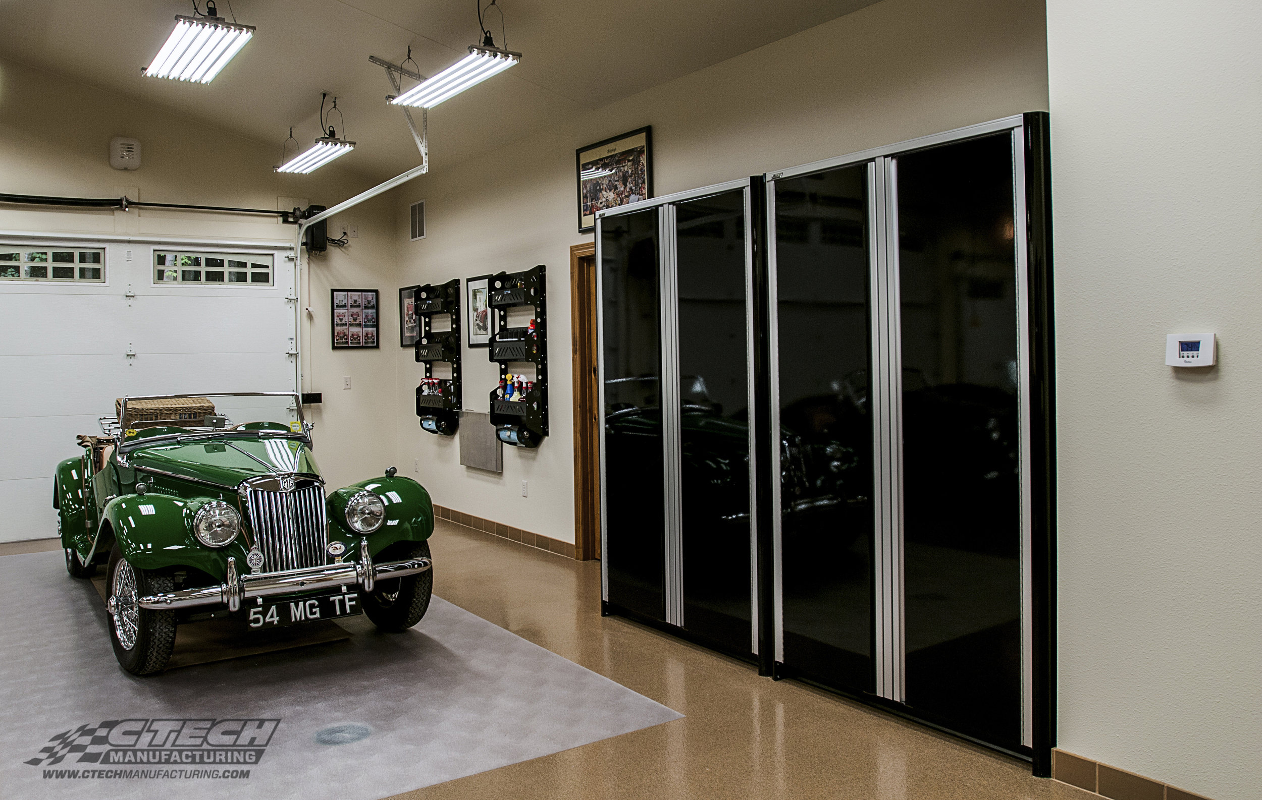 Taking away clutter puts more emphasis on things that matter most, like your favorite collector car. Although, the cabinets are impressive in their own right! You might find that you get just as many compliments on your CTECH Cabinet and Blackline Accessories as you do on your collector items!
