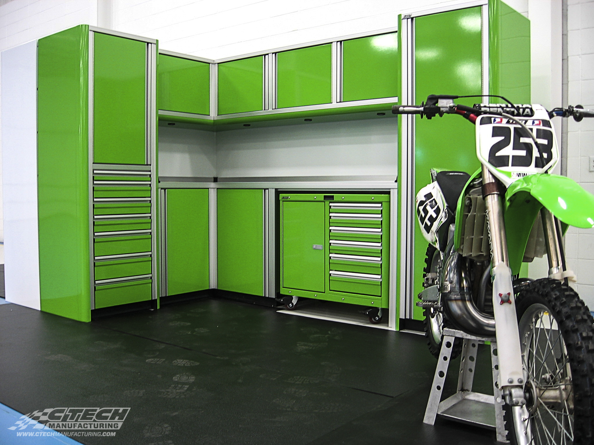 CTECH offers the most advanced modular storage solutions in the industry. The LimeRock cabinet package, pictured here, is available in a ready-to-order configuration. Extra customization is always an option, however! BOM 31314