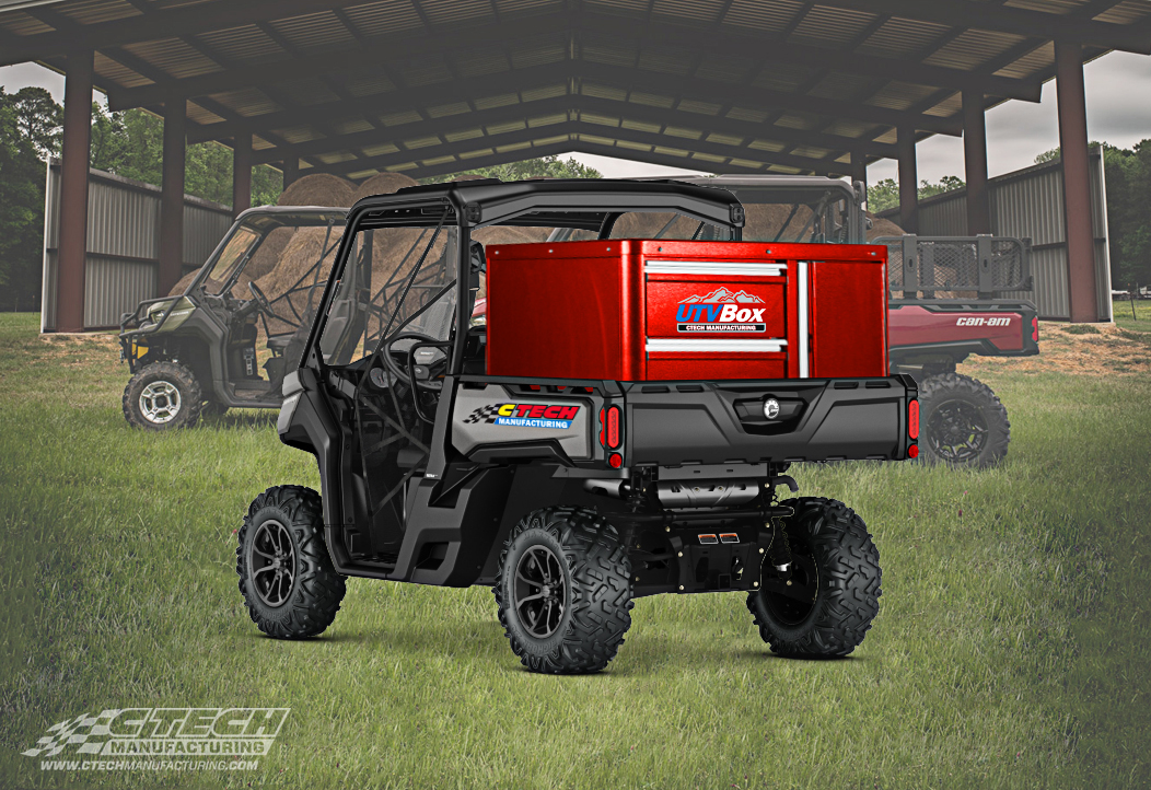 UTV's have proven themselves to be excellent workhorses, but often lack built-in storage systems. CTECH has brought their mobile storage innovation to the UTV industry, offering both in-bed and bed replacement UTVBox cabinet systems.