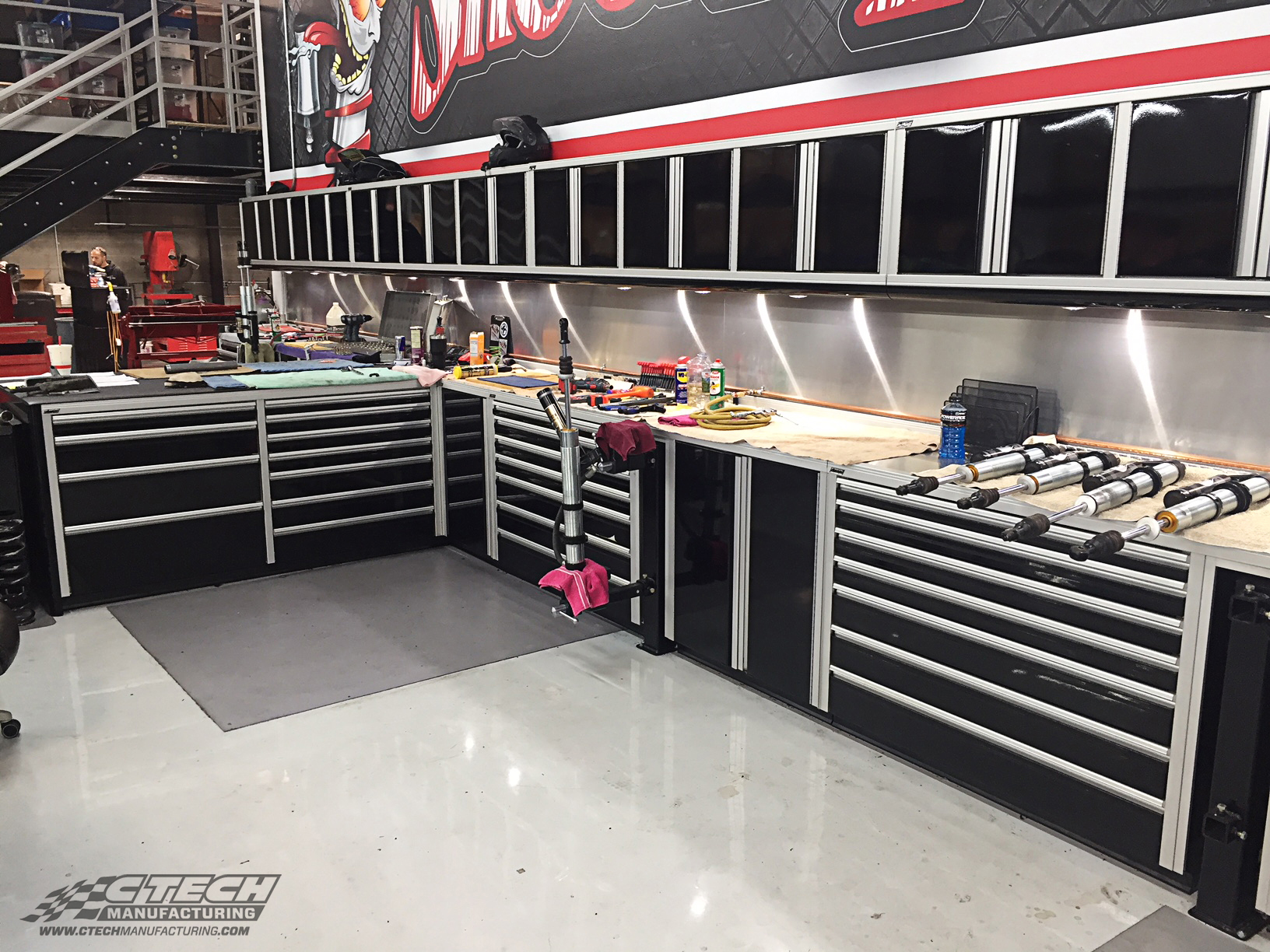 The team at Shock Therapy wanted only the best shop cabinet setup, not only for their technicians but also for their customers. By installing a custom CTECH cabinet system, they've given their shop a massive facelift, and improved efficiency in the process. BOM 32129