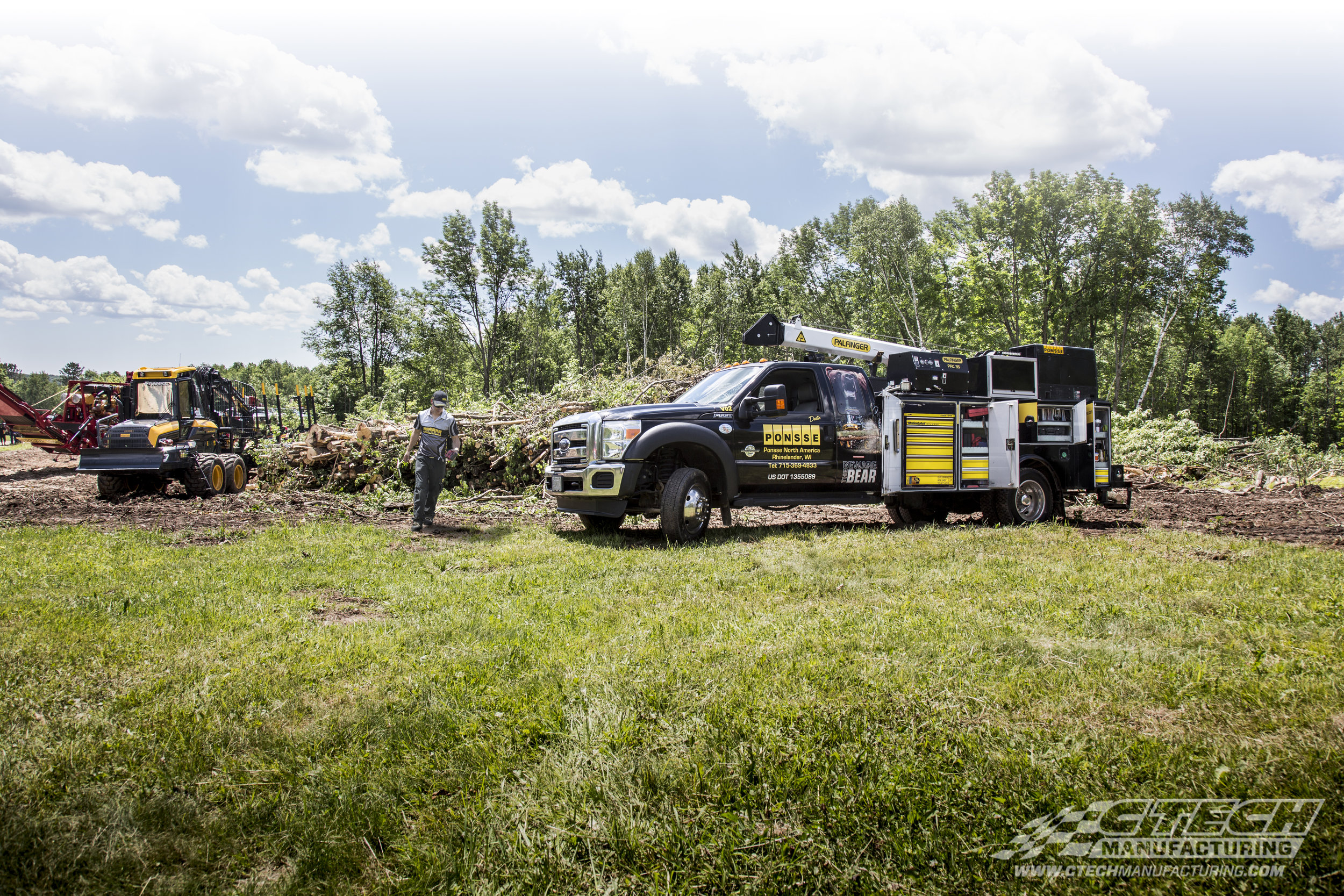 Some of the world's leading outdoor service providers, like Ponsse Forestry, trust CTech to provide them with the highest quality truck body tool drawer available.