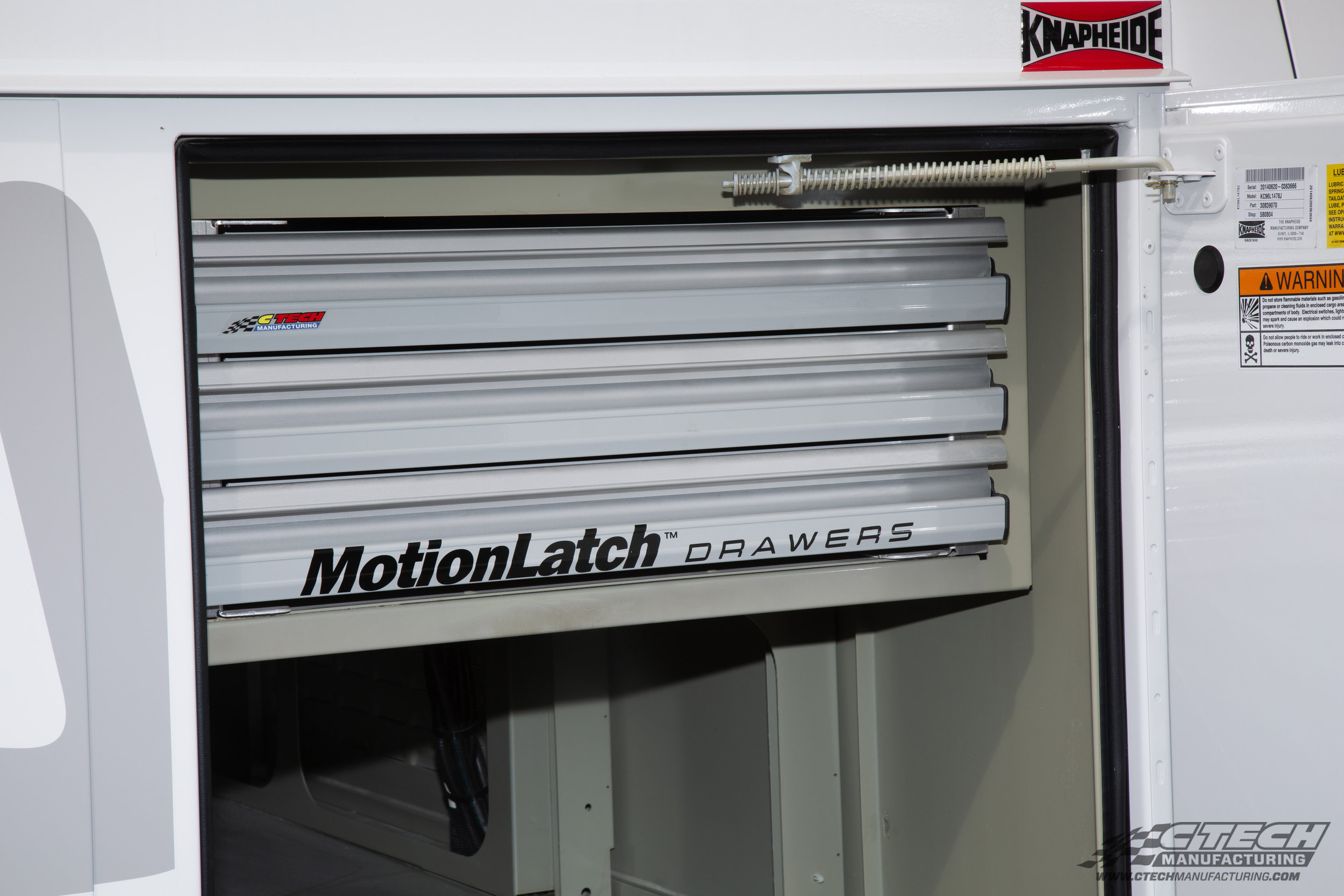 CTech and Knapheide have been working together for years to optimize truck body storage compartments. There's an unlimited number of CTech tool drawer combinations available!