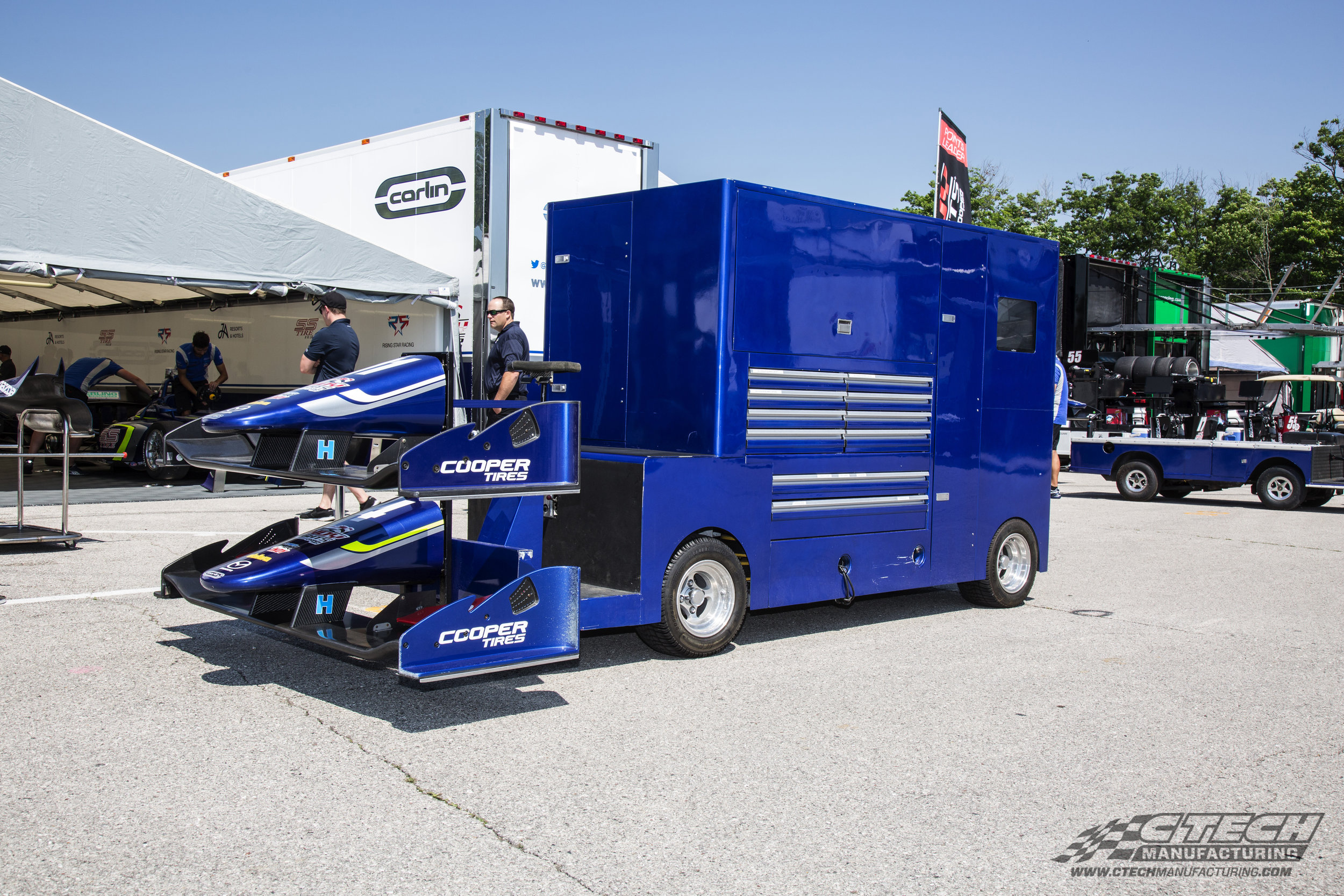 Even though this pit vehicle was built by someone else, Carlin Racing wanted CTech drawers inside of it! Why, because CTech drawer inserts are the best in the business!