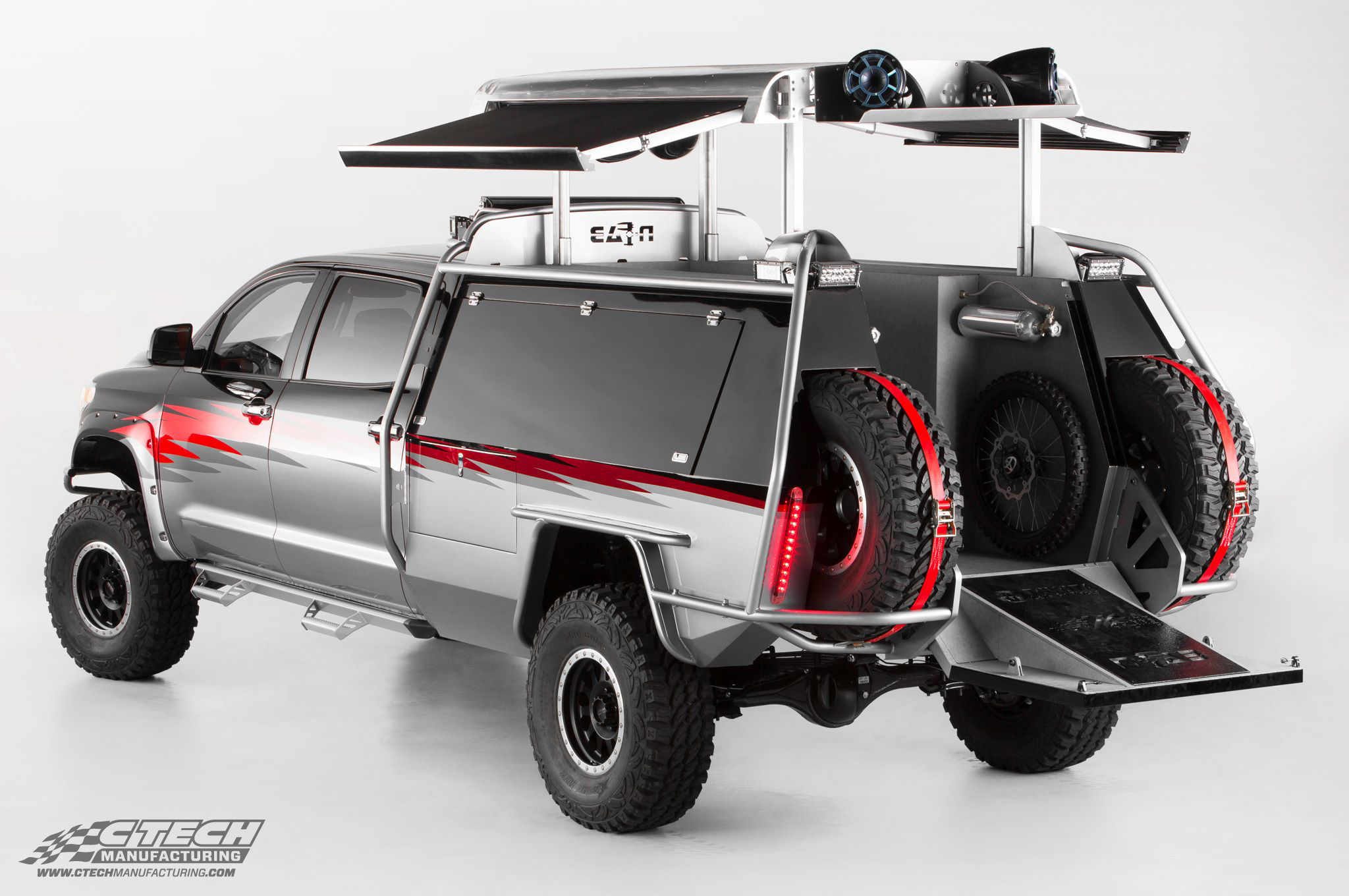 Toyota's recent Dream Build: A Toyota Tundra built specifically for off-road motocross racers. This truck is equipped with CTech Tool Drawers because they're built for the rigors of offroad travel!