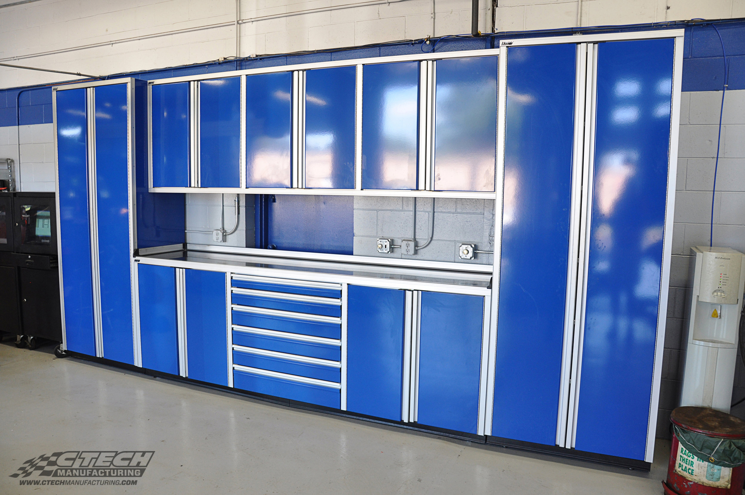 Auto Select CTECH Blue Pro Series Standalone Garage Cabinet Syst
