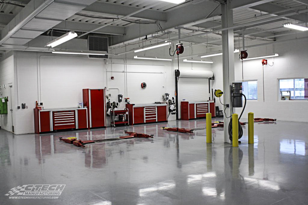 CTECH Brembo Red P Series Modular Shop Cabinet Setup