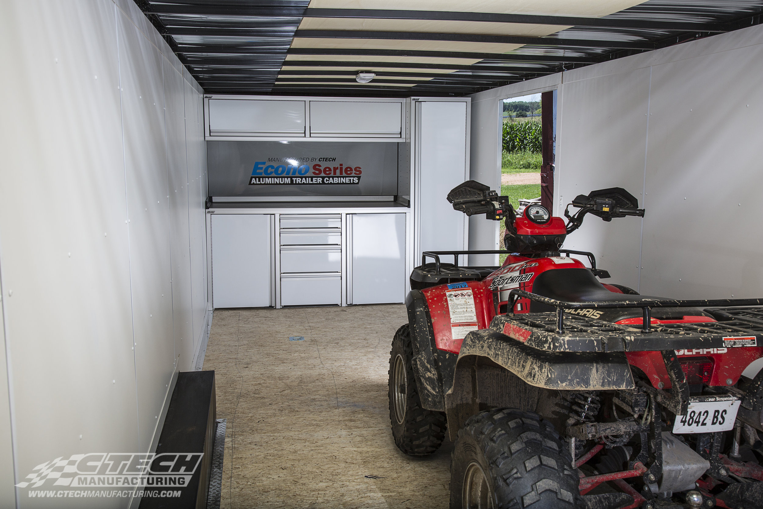 CTECH Econo Series Trailer Cabinet with ATV