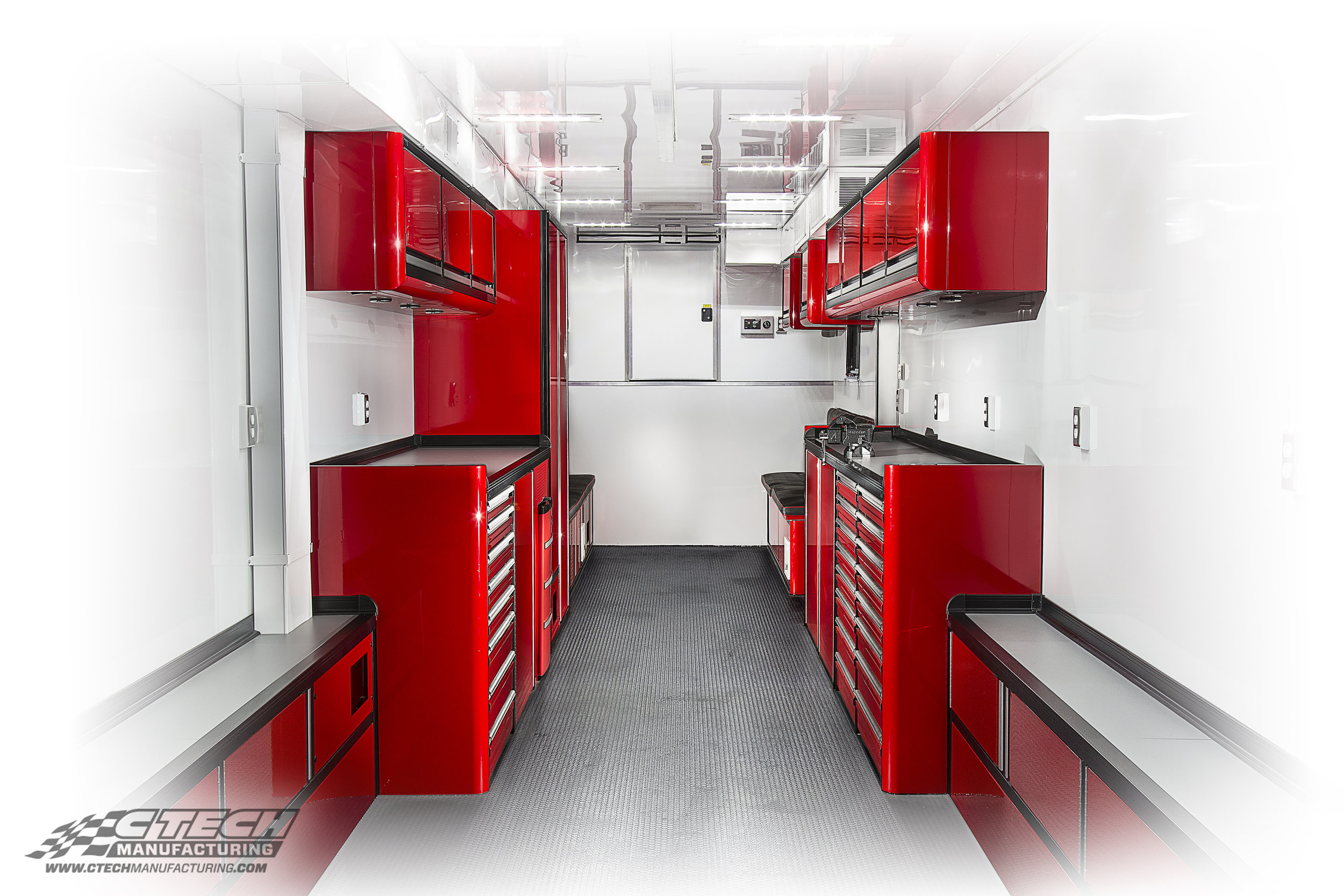 Ritchie Motorsports CTECH Red Custom Motorsport Trailer Cabinets