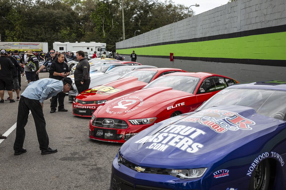 Pro Stock Cars In Staging Lanes