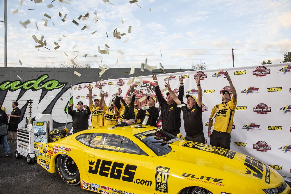 Team JEGS in Winners Circle