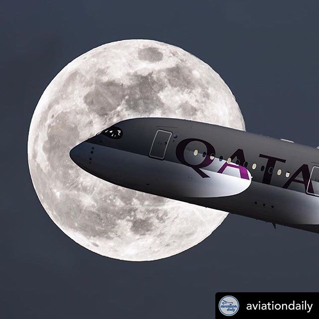 A little ZOOM? Just a little telephoto used on this pic of an Airbus A350. Repost from @aviationdaily Qatar Airways Airbus A350-900XWB departure out of Zurich Intl. Airport! 🌙✈️ 📸: @jb.jets #Aviationdaily