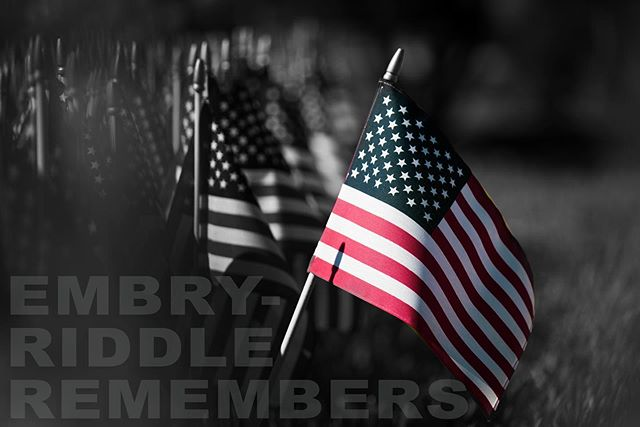 Embry-Riddle remembers all of our fallen Eagles and to any and all who made that sacrifice, we salute you. #memorialday