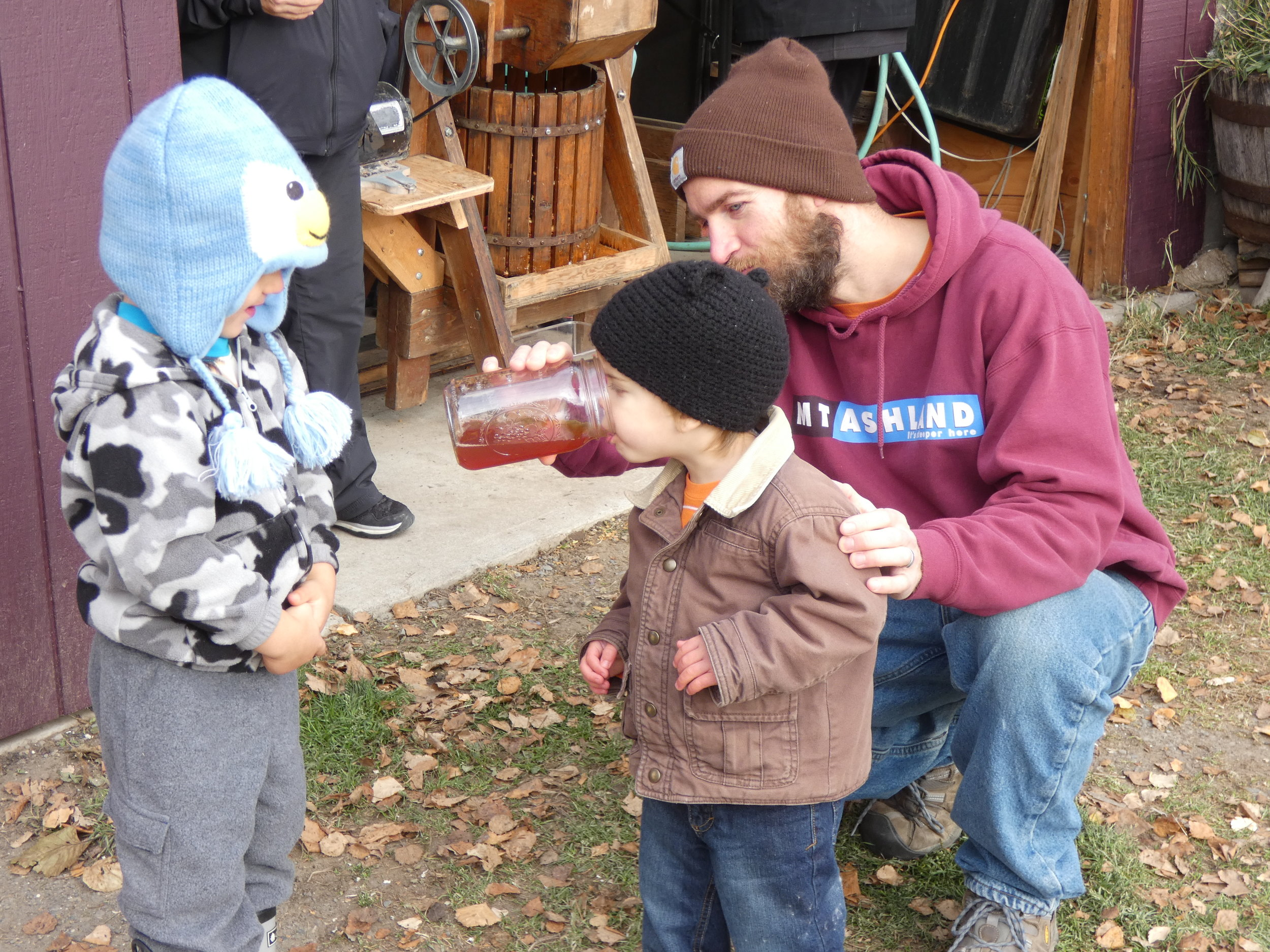 Cider pressing is one of the classses taught at the Homer Folk School