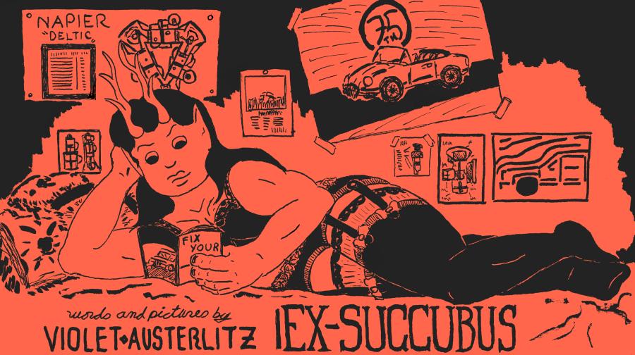 Cover of  Ex-Succubus   silkscreen print