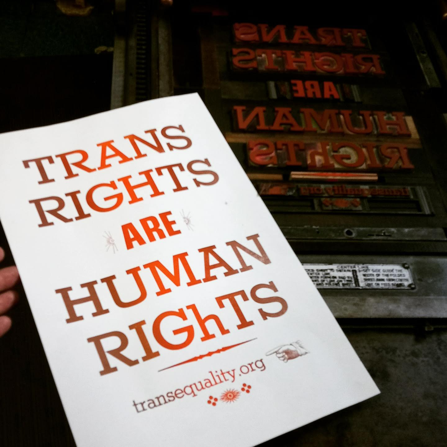 Trans Rights are Human Rights   letterpress