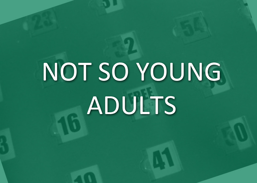 Recognizing the great gift of the elders of our community and the need of the human heart for interaction with others, the  Not So Young Adults  gather on the 4th Thursday of each month to attend evening Mass, share a meal together, and to enjoy a (usually lively) game of BINGO.