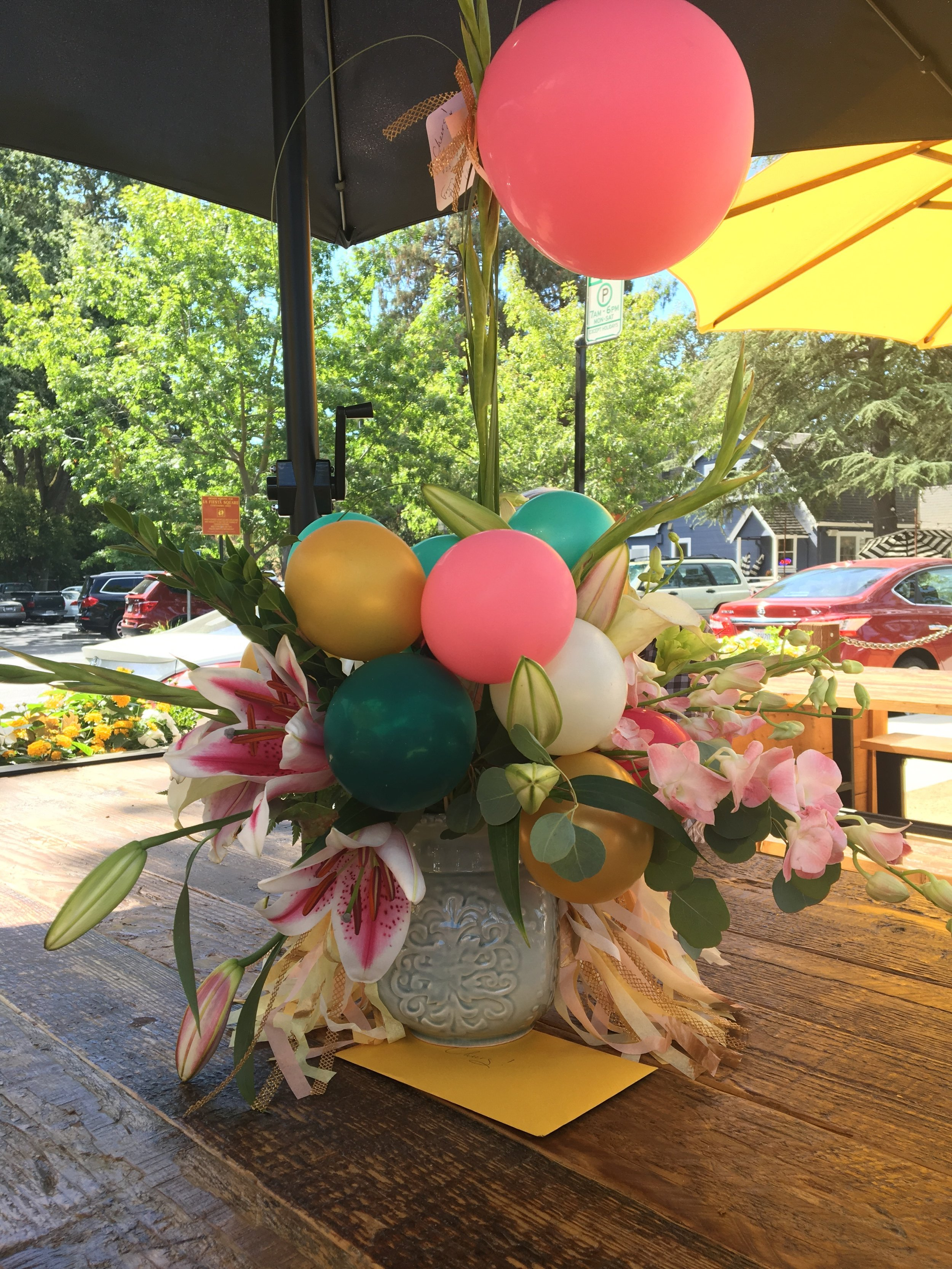 Yes, Please! - Balloons and Blooms makes a fabulous statement!