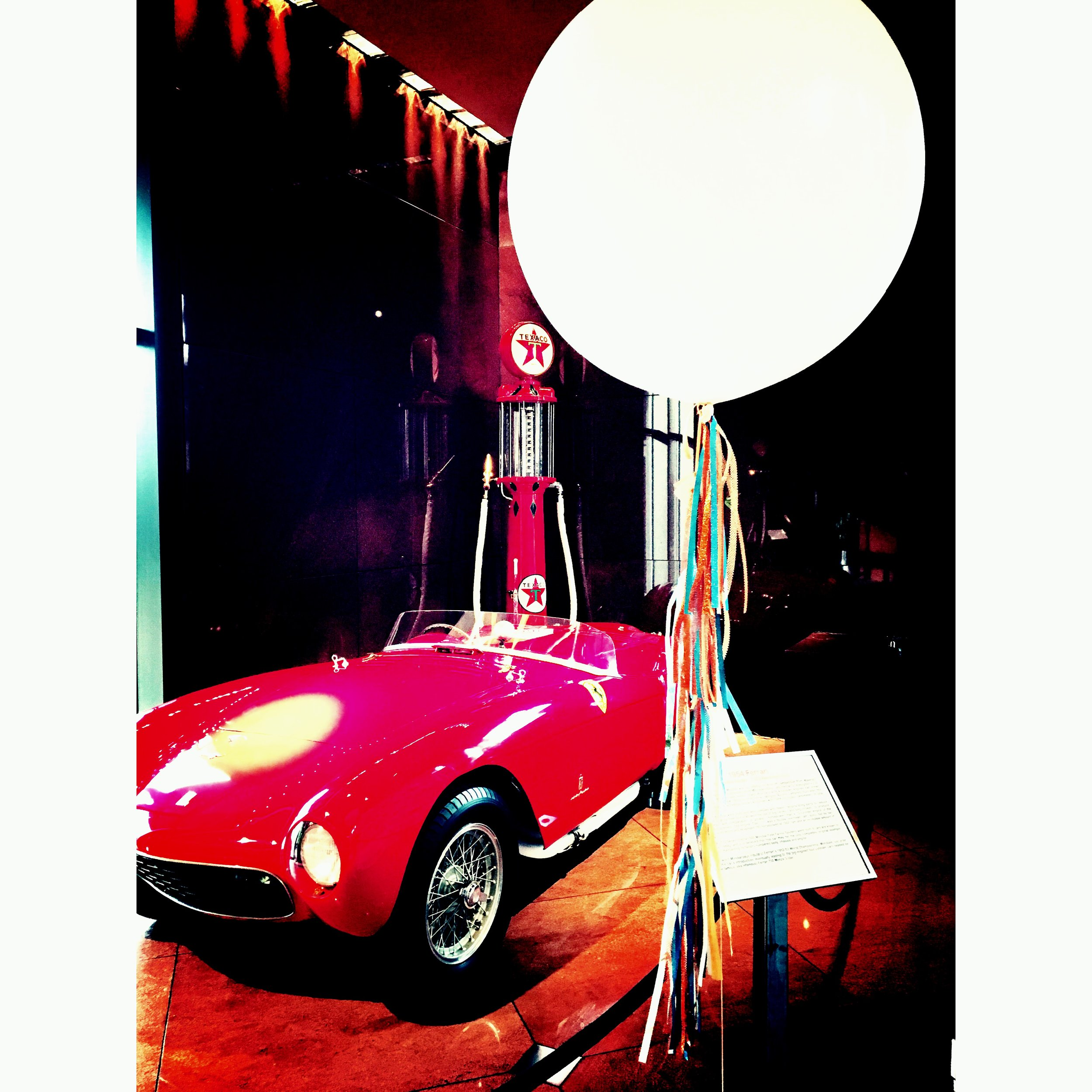 This balloon wanted a picture with a supercar!