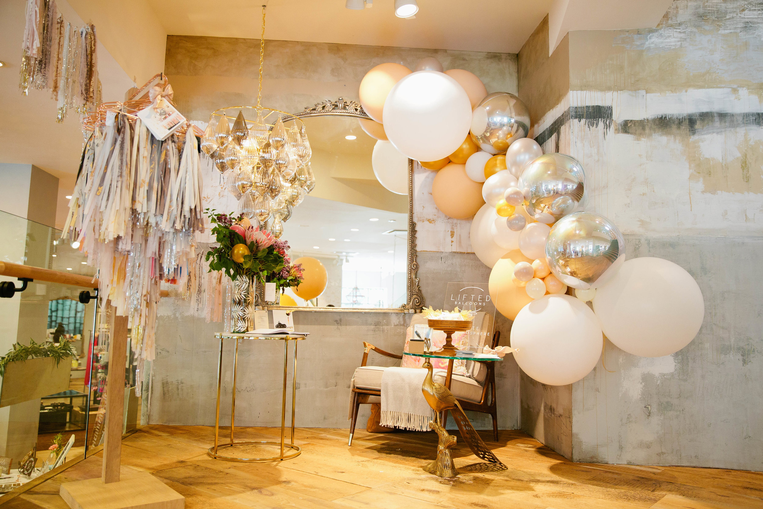 Lifted-Balloon-Waterfall-arch-wedding-Party-Decor-East-Bay-California