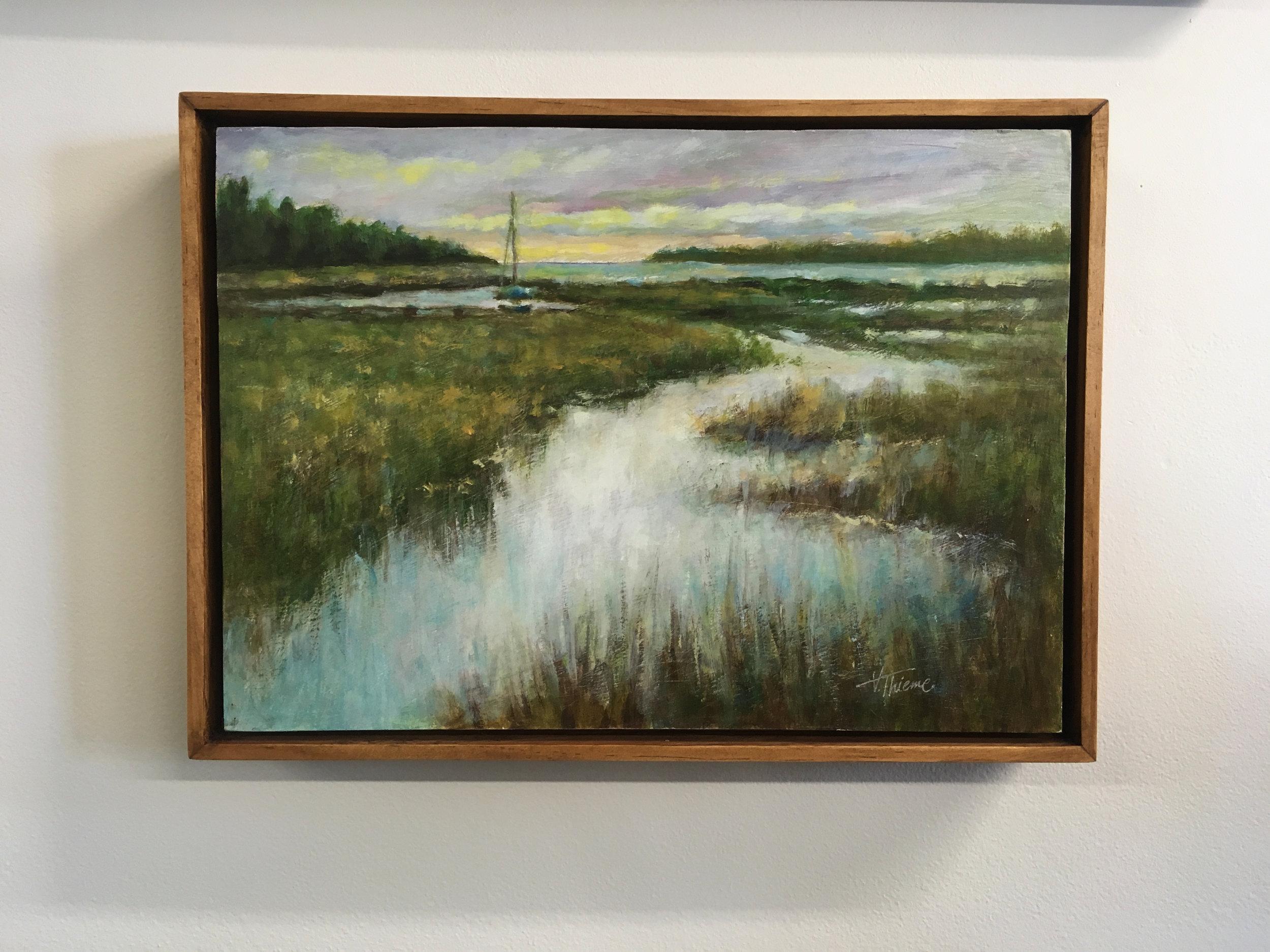 """Baileys Harbor Moonlight Bay #2"" Oil Painting"