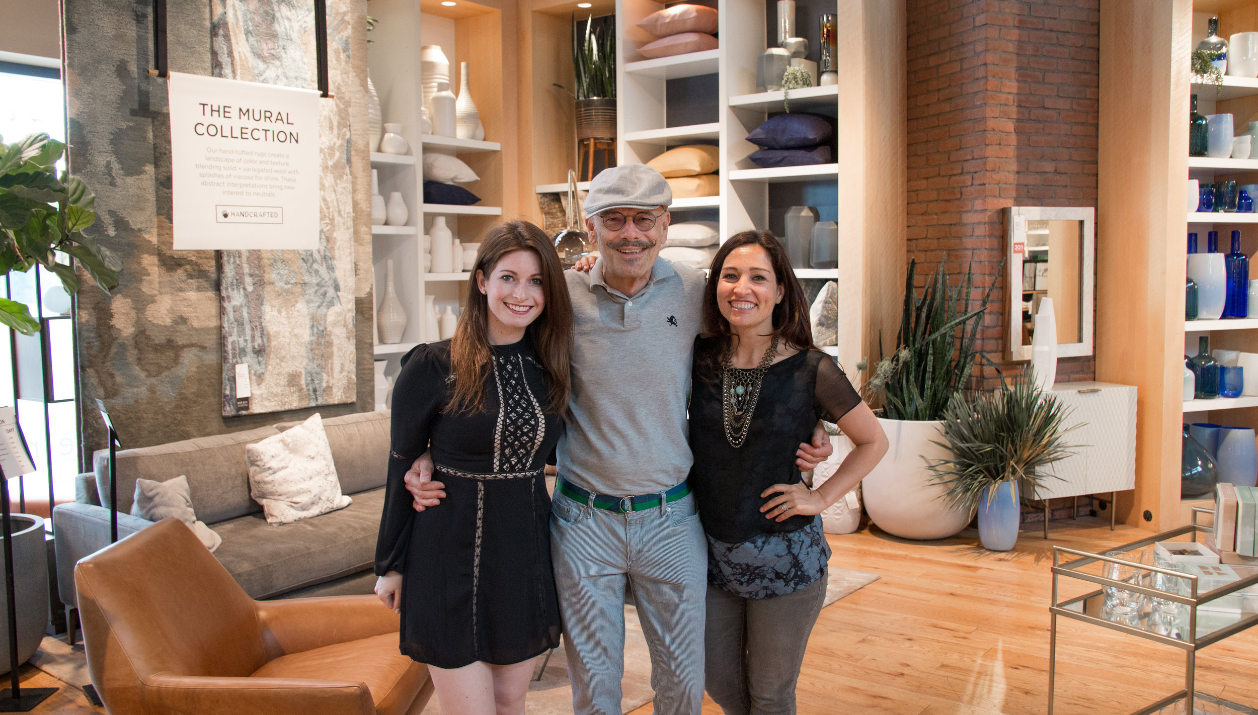 Mingling with Hudson Smith Designs and  Tania Rodamilans  at West Elm Lincoln Park.