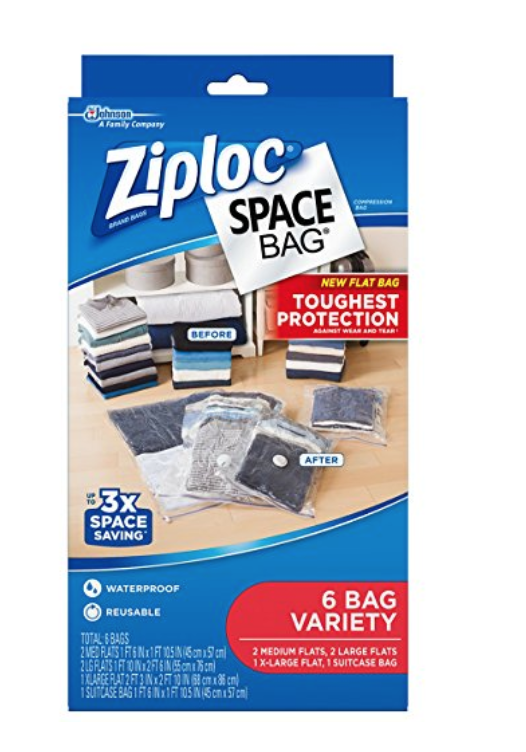 These help me store bulky blankets, pillows and off-season clothes when I'm not using them.