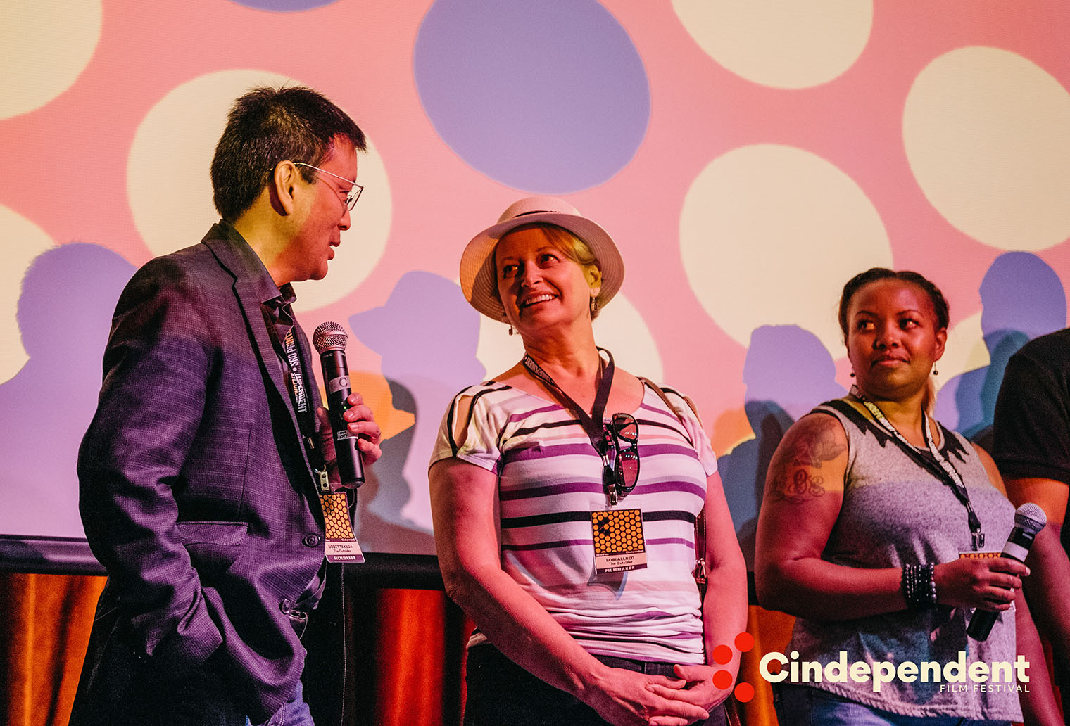 BS Filmworks directors Scott Takeda and Lori Kay Allred answer questions at the Cindependent Film Festival filmmaker Q&A