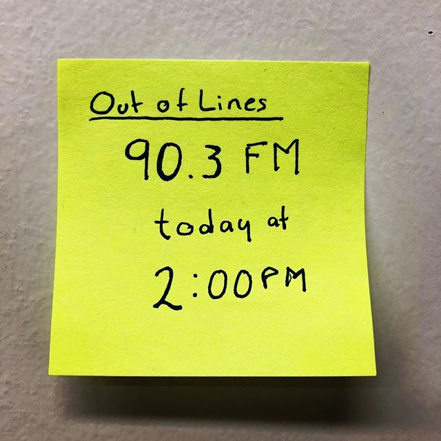 I'll be a guest at Out of Lines hosted by Katerina Pansera tune in to listen 👂 🎤 📢
