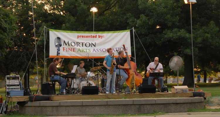 The  Adam Larson  Groove Quintet performs at Arts in the Park Concert held at Idlewood Park on July31, 2008.