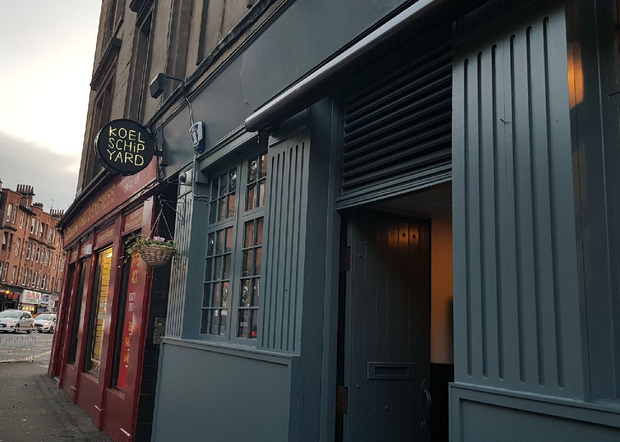 KOELSHIP YARD |  GLASGOW     https://www.koelschipyard.beer/     New bar in Glasgow's southside from our friends at the Sal Horse. Great selection of keg lines on regular rotation as well as a small cask offering.