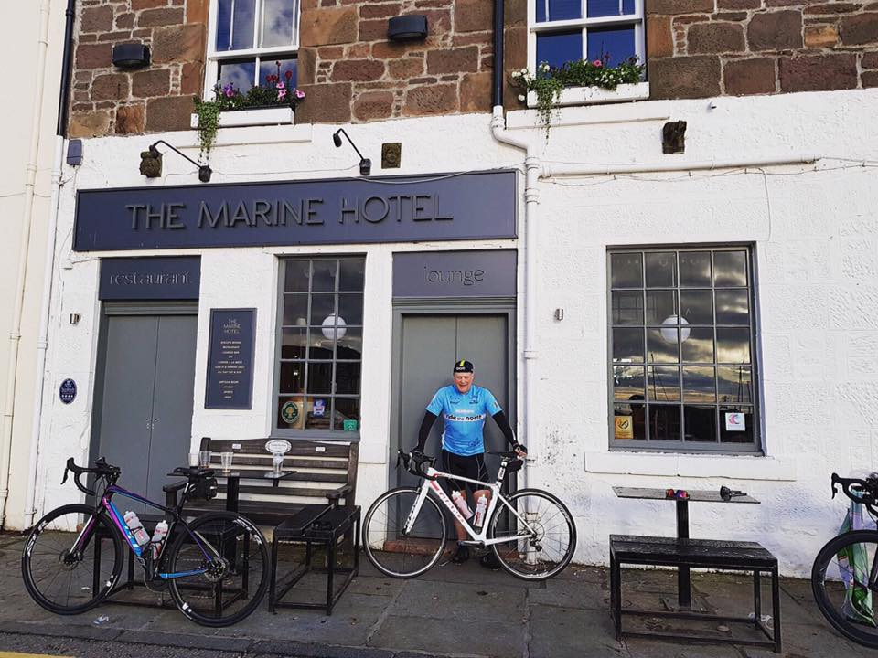 Day 1 - Stonehaven - Inverness. Robert begins his journey at the 6DN brewery tap where it all began. He has some company for today's 110 mile ride. Catch him Black Isle Bar and Roomstonight with our new beers