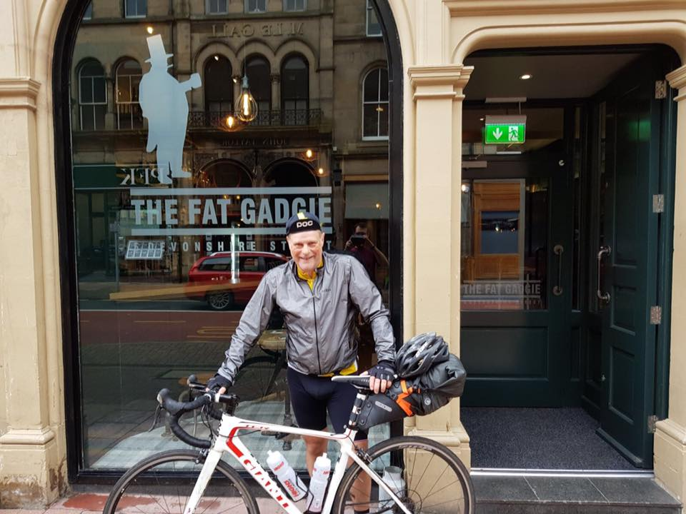Day 8 - Back on the road today! Highlights included a leisurely 27 mile climb over the Tweedsmuir hills in the fog & rain! I'm at The Fat Gadgie in Carlisle tonight.