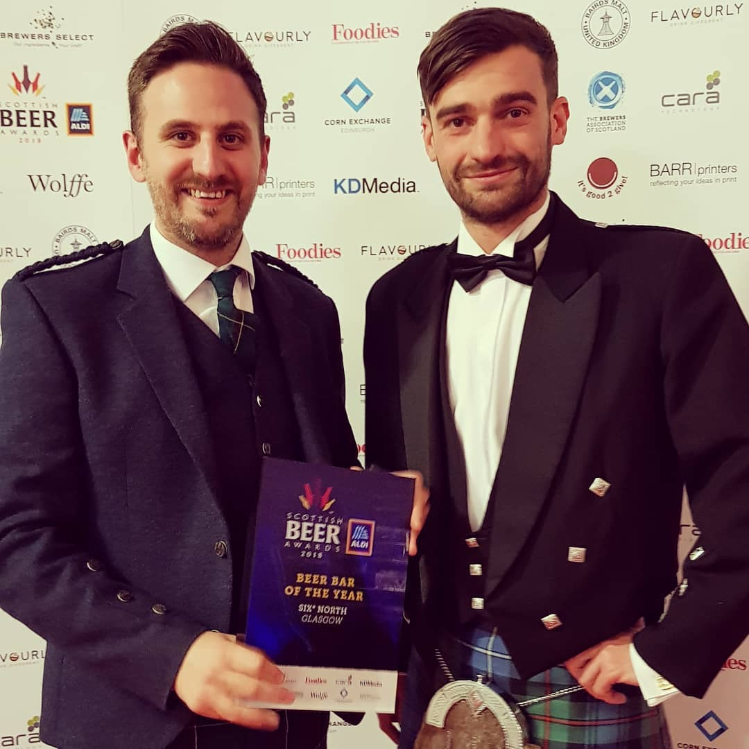 WON AWARDS: WE WERE DELIGHTED TO WIN 'BAR OF THE YEAR' (SIX°NORTH GLASGOW) AT THE SCOTTISH BEER AWARDS & 'BEST BREWED PRODUCT' (FORAGED & FOUND) AT THE SCOTTISH FOOD & DRINK EXCELLENCE AWARDS. -