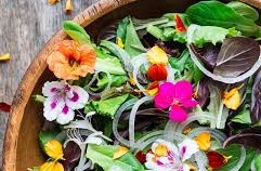 Edible flowers in your daily salad.